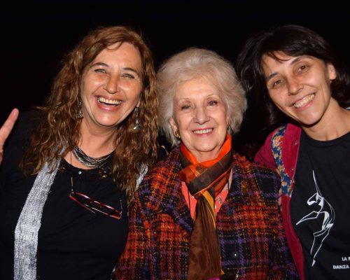 Estela de Carlotto , Yiya Logiurato y Yamila Cruz Valla